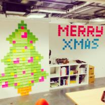 Xmas Post It Decorations