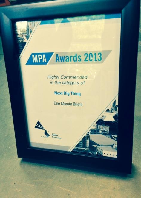 Our MPA Next Big Thing Award